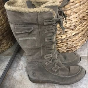 Timberland Genuine Leather Snow Boots Size 8.5